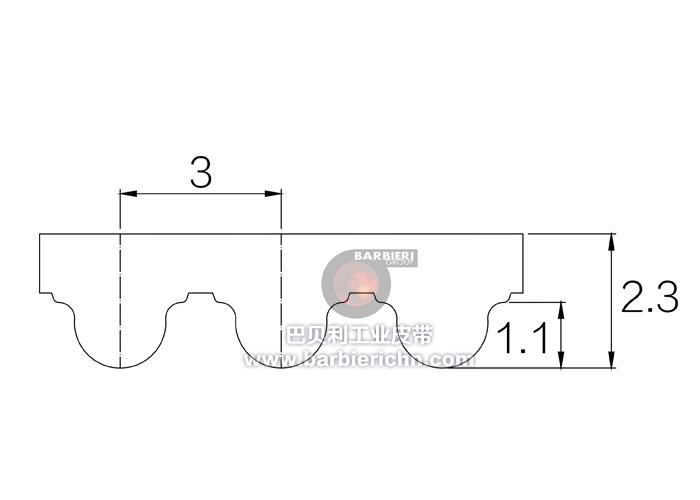 开口同步带-HTD3M