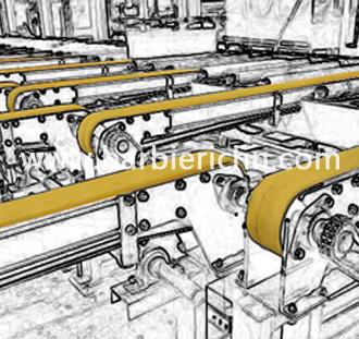 挤出铝型材输送线同步带-耐热毛毡带